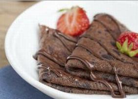 čokoládové palačinky s vanilkovým pudinkem