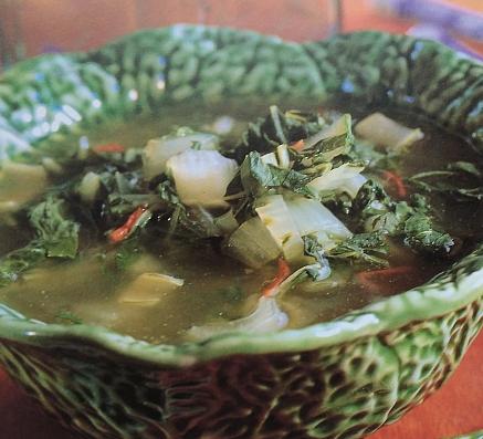 čínská zelná polévka