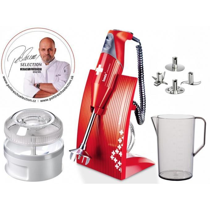 Bamix PS Swissline M200 tyčový mixér, červený, 200 W