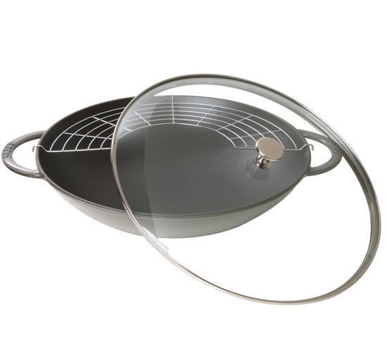 litinový wok Staub