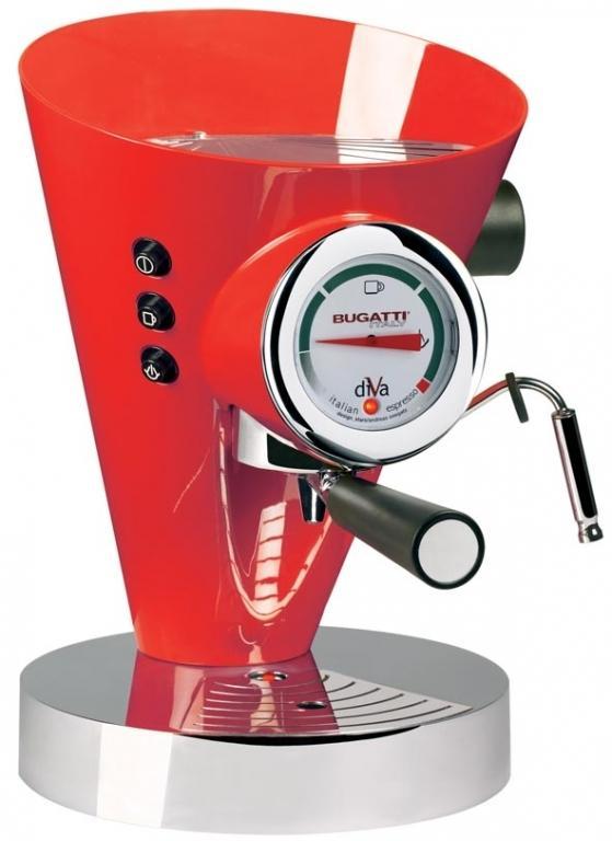 Bugatti Diva 15-DIVAC3 kávovar červený