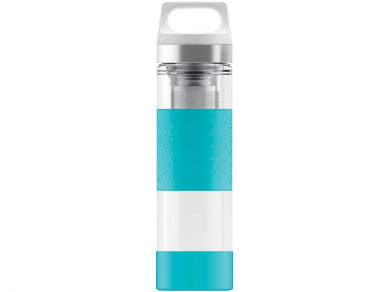 Termosky SIGG Termoska Hot & Cold Glass WMB 0,4 l, modrá