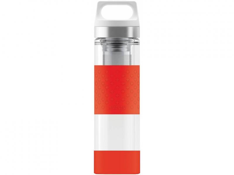 Termosky SIGG Termoska Hot & Cold Glass WMB 0,4 l, červená