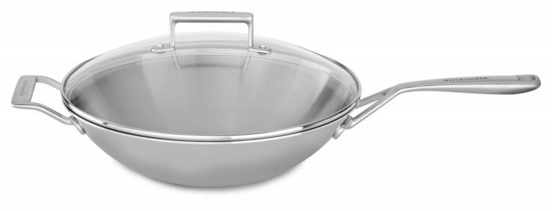 KitchenAid nerezová pánev wok - 33cm