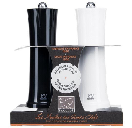 Peugeot Šachy sada mlýnků, černá/bílá,18cm