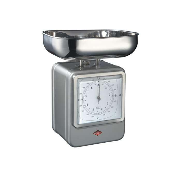 Wesco kuchyňské váhy s hodinami, nová stříbrná