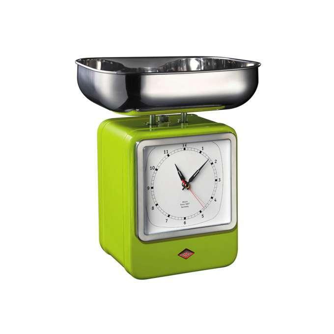 Wesco kuchyňské váhy s hodinami, zelené