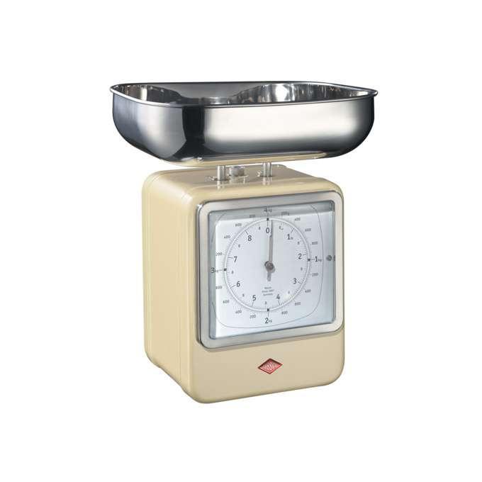 Wesco kuchyňské váhy s hodinami, mandlové