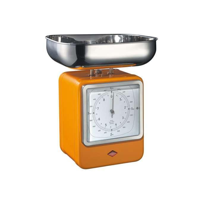 Wesco kuchyňské váhy s hodinami, oranžové