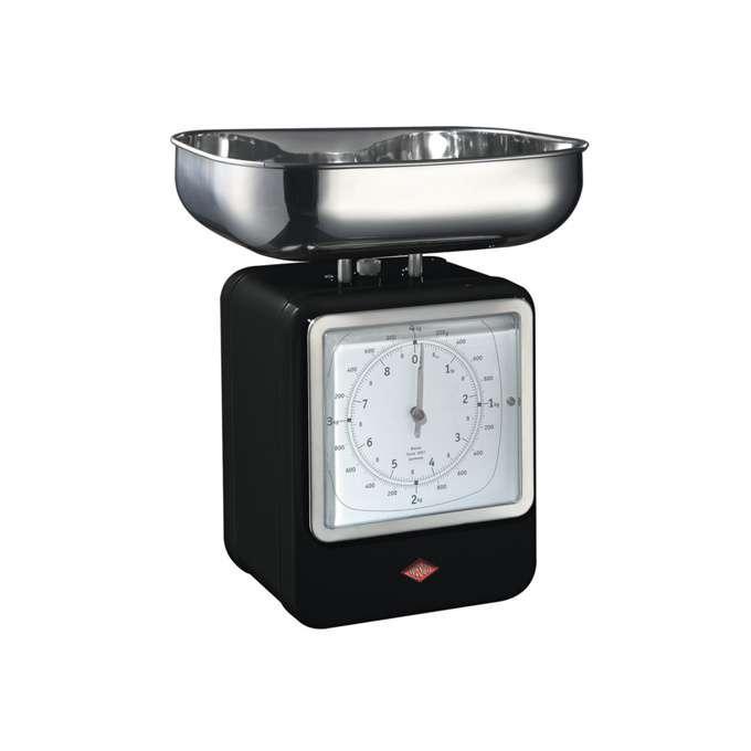 Wesco kuchyňské váhy s hodinami, černé