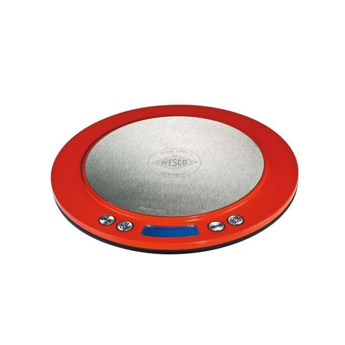 Wesco kuchyňská váha digitální, červená