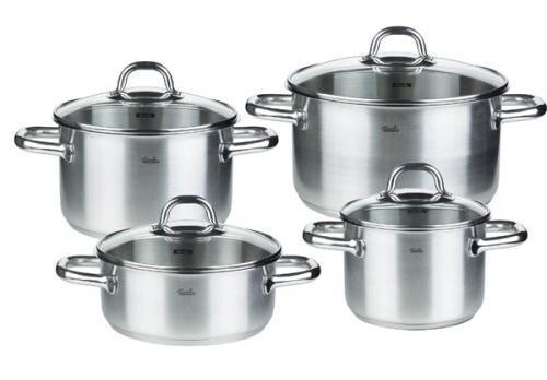 Sada nádobí nerezová - 4 dílná - Viseo Fissler