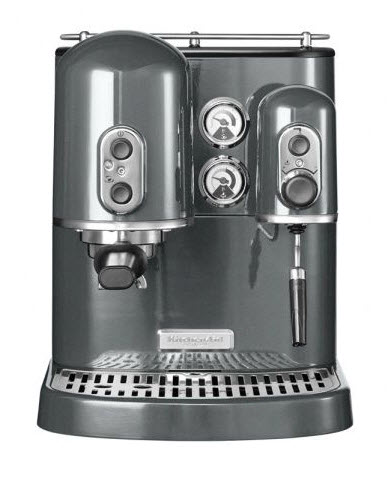 KitchenAid Artisan 5KES2102EMS espresso kávovar, stříbřitě šedá