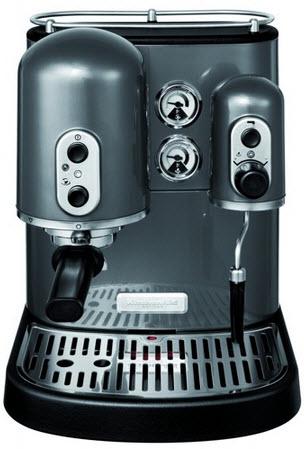 KitchenAid Artisan 5KPES100EPM espresso kávovar, šedá metalíza