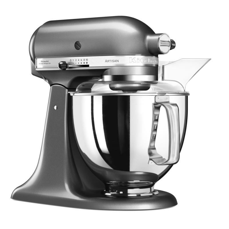 KitchenAid robot Artisan 5KSM175PSEMS stříbřitě šedá + Akční set KitchenAid balíček s příslušenstvím FPPC