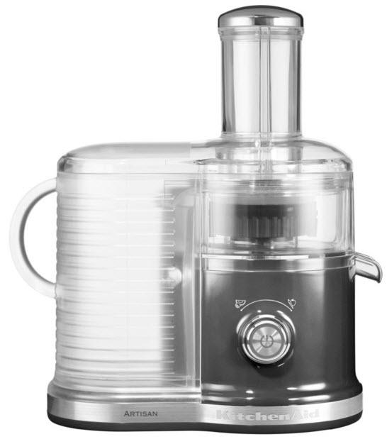 KitchenAid Artisan 5KVJ0333EMS odšťavňovač stříbřitě šedá + Akční set Keramická škrabka černá