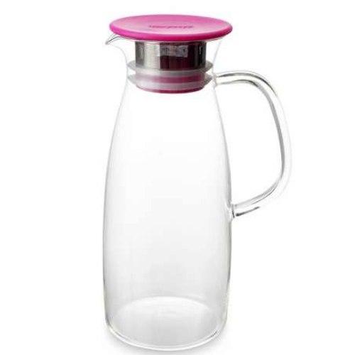 ForLife skleněný džbán Mist na ledový čaj, fuchsiový, 1,5 l