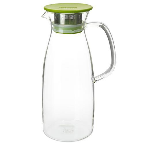 ForLife skleněný džbán Mist na ledový čaj, limetkový 1,5 l