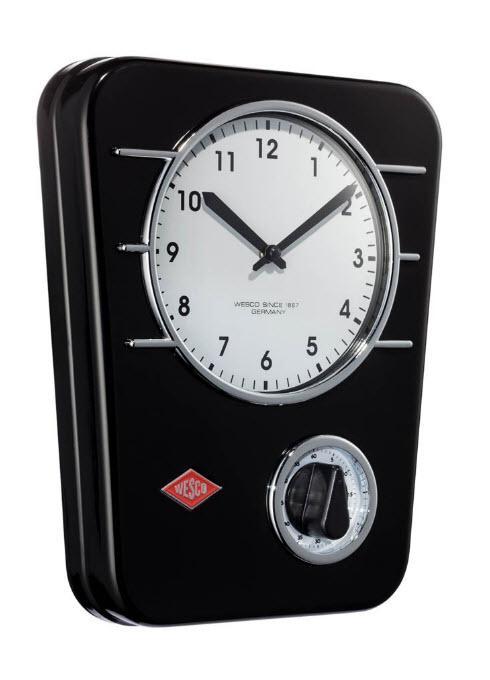 Wesco kuchyňské hodiny s minutkou, černé
