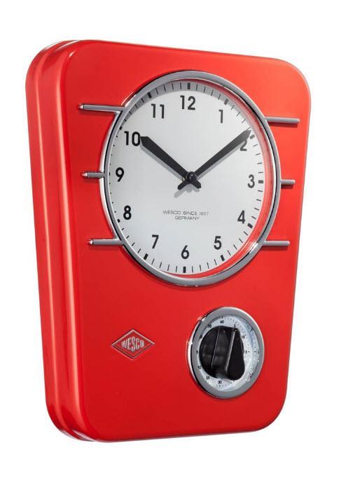 Wesco kuchyňské hodiny s minutkou, červené