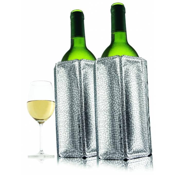 VacuVin chladící návlek na víno - stříbrný, set 2 ks