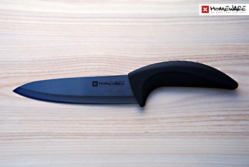 Černý keramický nůž Homeware Chef´s 17,78 cm