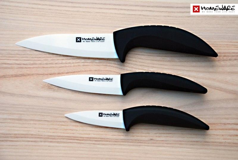 "Sada keramických nožů Homeware 3 ks, 3"" + 4"" + 5''"