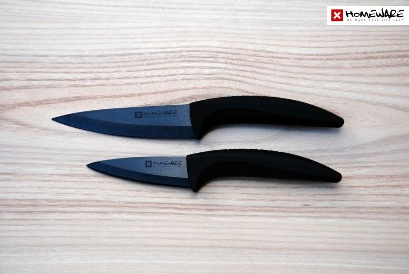 """Sada černých keramických nožů Homeware 2 ks, 3"""" + 4''"""