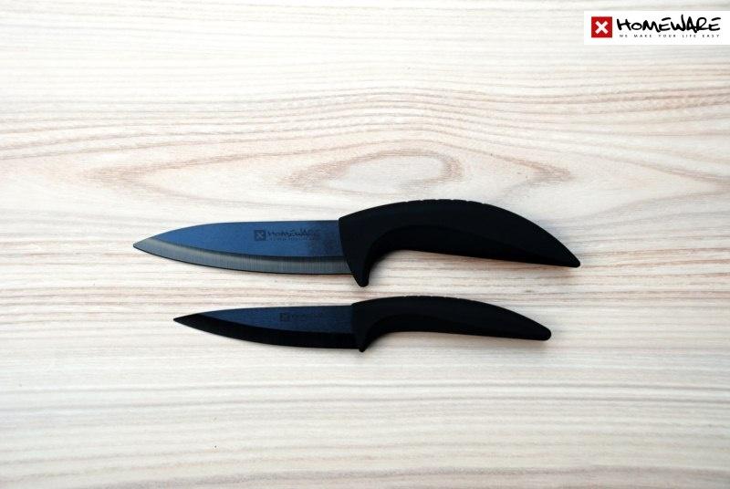 """Sada černých keramických nožů Homeware 2 ks, 4""""+ 5''"""