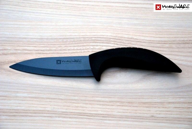 Černý keramický nůž Homeware plátkovací 12,7cm