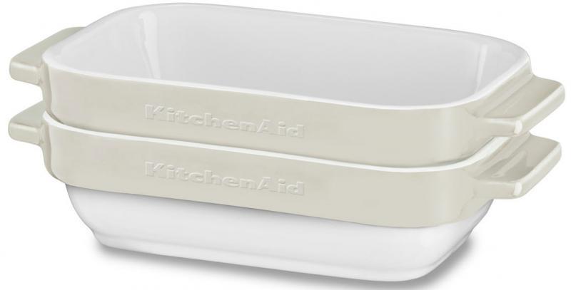 KitchenAid keramický mini pečící set 2ks (KBLR02MBAC) mandlová