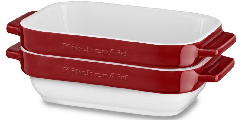 KitchenAid keramický mini pečící set 2ks (KBLR02MBER) královská červená