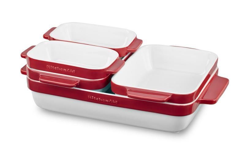 KitchenAid pekáč keramický - sada 5 ks - královská červená