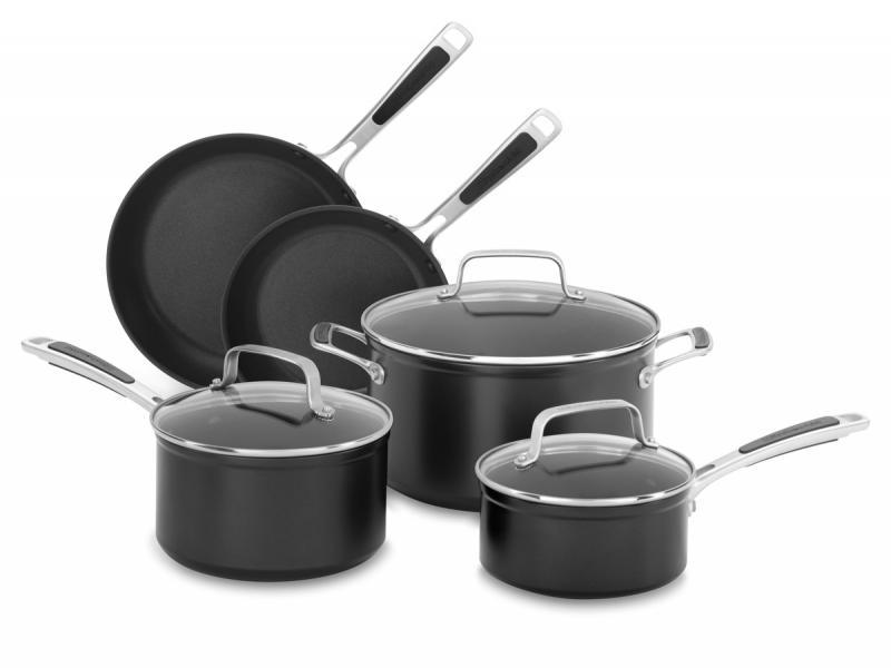 KitchenAid Pánev 20 + 24 cm, hrnec 1,4l + 2,4l a kastrol 5,7l - SET