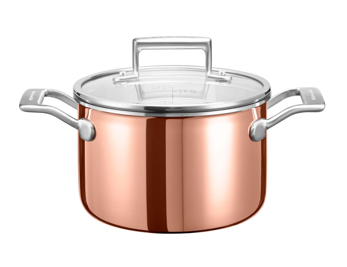 KitchenAid hrnec s poklicí 5,7l, 24 cm + Akční set Villeroy & Boch Piemont příborový set, 4 ks