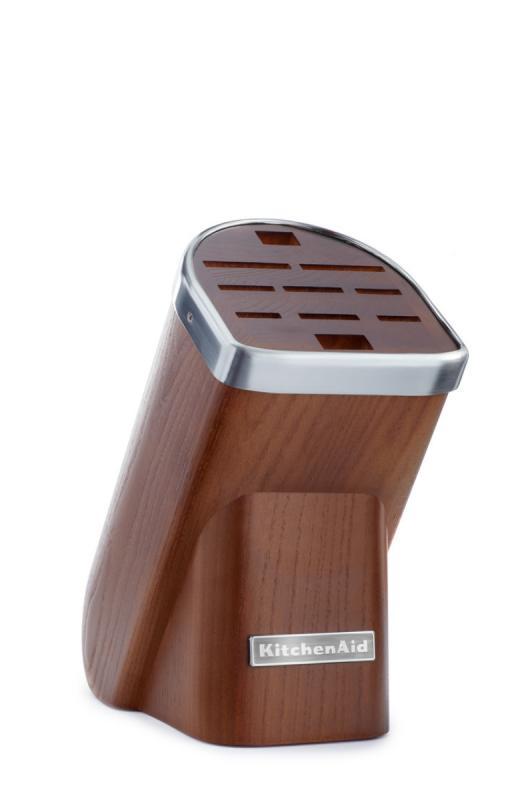KitchenAid Blok na nože, 10 slotů, přírodní dřevo-tmavý jasan KKFMA01DA