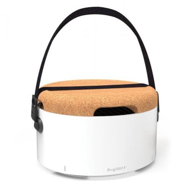 Mobilní gril BergHOFF BBQ Table - bílá + Akční set Souprava na grilování BergHOFF 5 ks, silikonový štětec