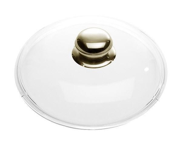 Skleněná poklice Ballarini s nerezovým hmatníkem 16 cm
