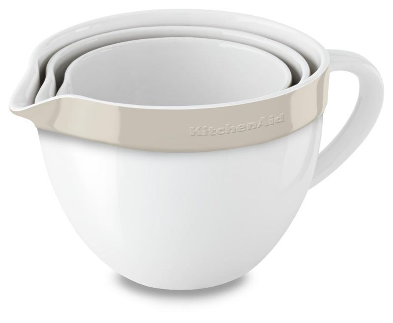 KitchenAid pracovní nádoba keramická set 3 ks (KBLR03NBAC) mandlová