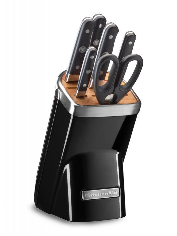 KitchenAid Sada nožů s blokem, 7 ks, černá KKFMA07OB
