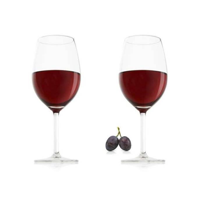 VacuVin Sklenice na červené víno, set 2 ks
