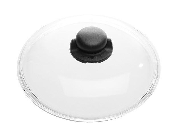 Skleněná poklice Ballarini s výpustným hmatníkem 32 cm